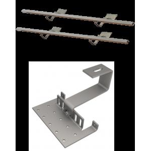DP 2,0 - Zestaw montażowy do 2 kolektorów DP 2,0 - dach skośny pokryty dachówką falistą