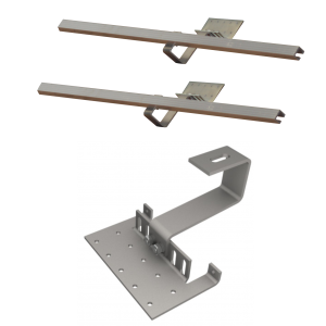 DP 2,0 - Zestaw montażowy uzupełniający do 1 kolektora DP 2,0 - dach skośny pokryty dachówką falistą