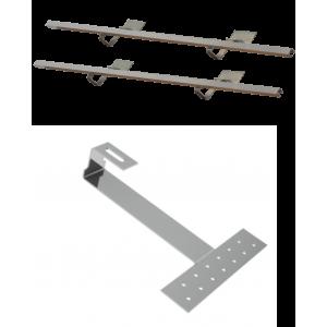 DP 2,0 - Zestaw montażowy do 2 kolektorów DP 2,0 - dach skośny pokryty dachówką karpiówką