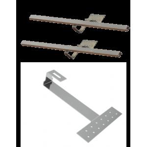 DP 2,0 - Zestaw montażowy uzupełniający do 1 kolektora DP 2,0 - dach skośny pokryty dachówką karpiówką