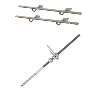 DP 2,0 - Zestaw montażowy do 2 kolektorów DP 2,0 - dach skośny z pokryciem bitumicznym i blaszanym