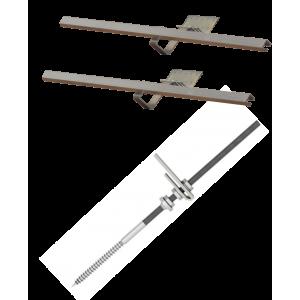 DP 2,0 - Zestaw montażowy uzupełniający do 1 kolektora DP 2,0 - dach skośny z pokryciem bitumicznym i blaszanym