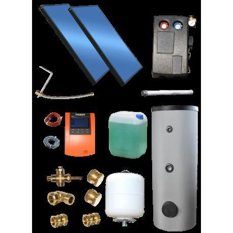 Zestaw solarny DP 2 x 2,85 / 250 l.